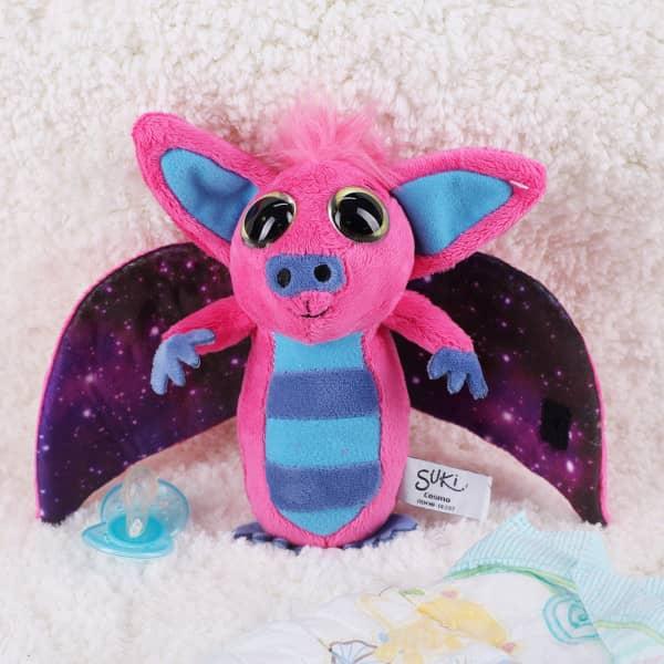 Kuscheltier Fledermaus Cosmo mit pinken Flügeln