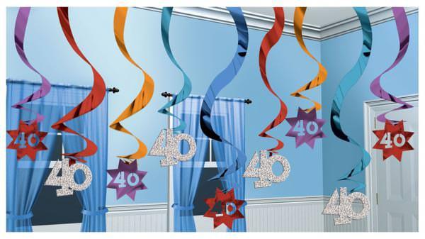 hängende Dekoration zum 40. Geburtstag