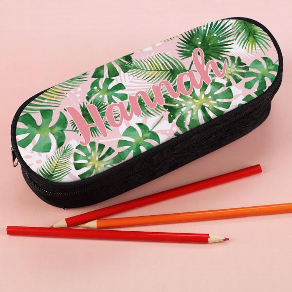 Stiftebox mit Tropicalmotiv und Wunschname