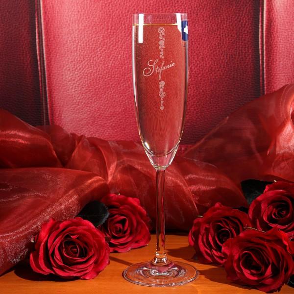 Sektglas Roses mit Gravur