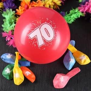 Luftballons zum 70. Geburtstag