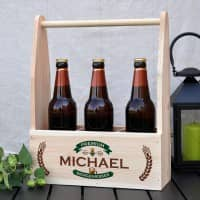Holzkiste - Bierträger mit persönlichem Aufdruck, Name und Geburtsjahr