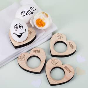 Eierbecher mit Gravur für die Familie