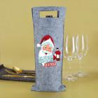 Weil du sooo artig warst! - Flaschentasche aus Filz mit Namensaufdruck zu Weihnachten