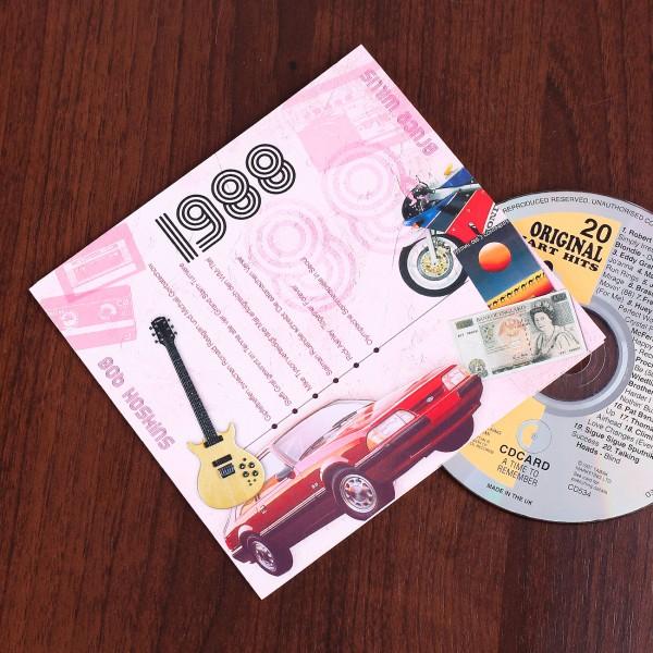 Geburtstagskarte mit 20 Hits aus dem Jahr 1988