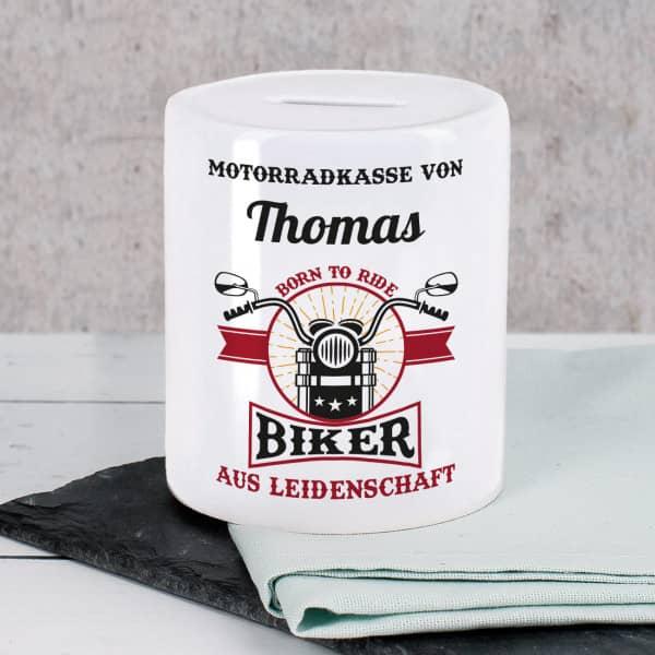 Motorrad-Kasse Spardose für Biker aus Leidenschaft