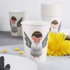 10 Pappbecher - friedlicher Engel