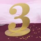 Goldene Dekozahl 3