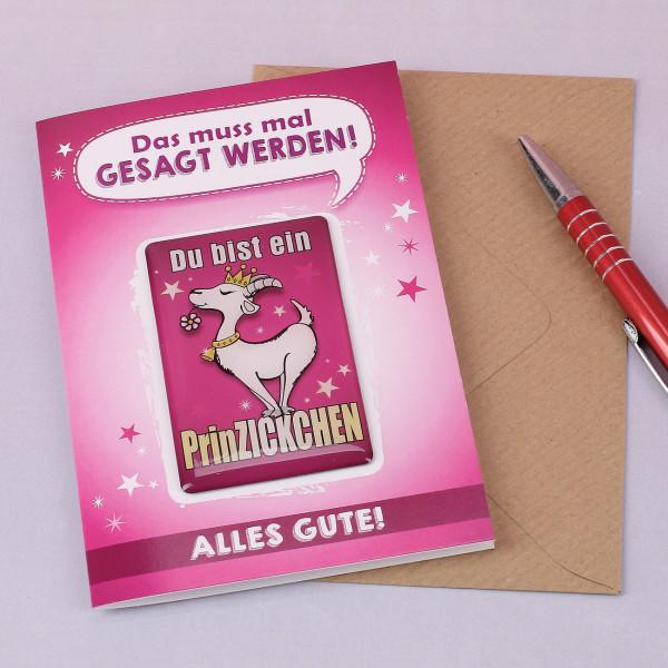 Grußkarte mit Magnet Prinzckchen