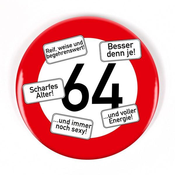 Button zum 64. Geburtstag