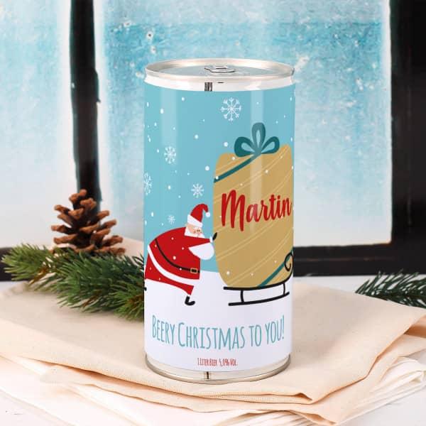 Weihnachts-Bier mit Name und Wunschtext, 1 Liter