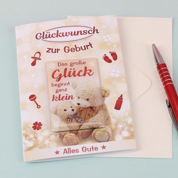 Nützlichgrusskarten - Glückwunschkarte mit Magnet zur Geburt - Onlineshop Geschenke online.de