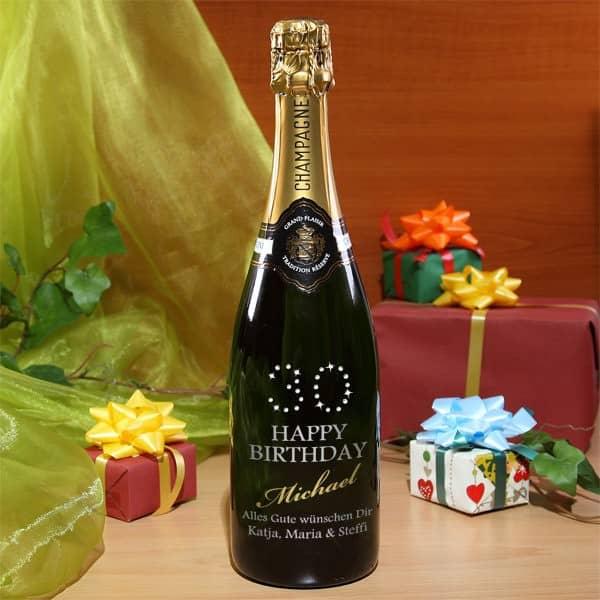Geburtstagsgeschenke zum 30. Geburtstag Champagner mit Strass