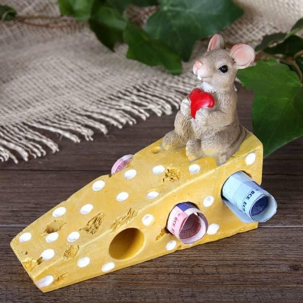 Geldgeschenk Maus Auf Kase Mit Herz