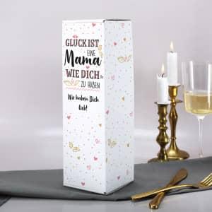 Personalisierte Flaschenverpackung zum Muttertag