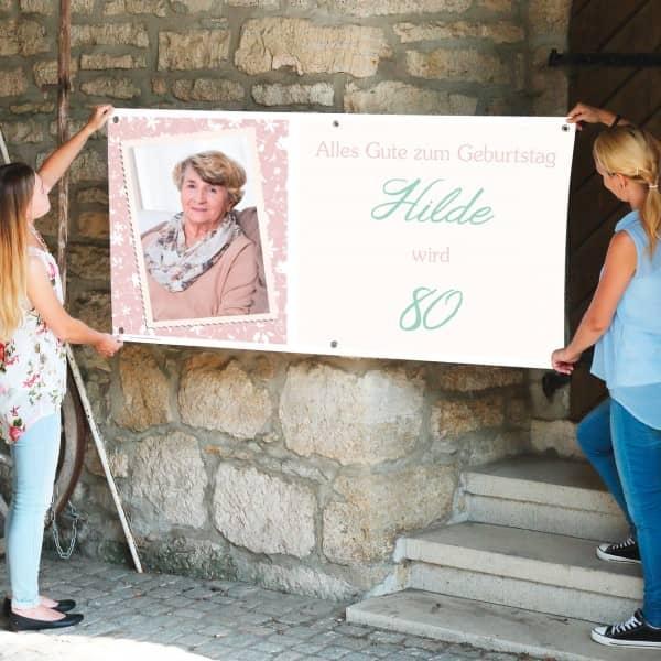 Personalisiertes Banner zum Geburtstag mit Foto...