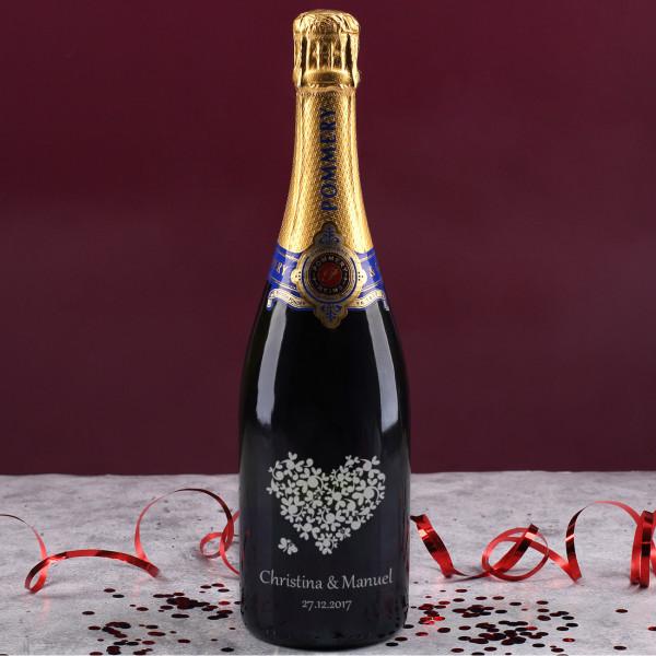 Gravierter Pommery Champagner