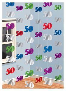 Hängegirlande zum 50. Geburtstag