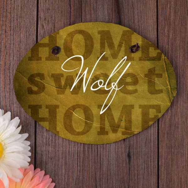 personalisiertes Türschild aus Schiefer - Home sweet Home