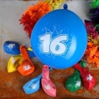 8 Luftballons zum 16. Geburtstag