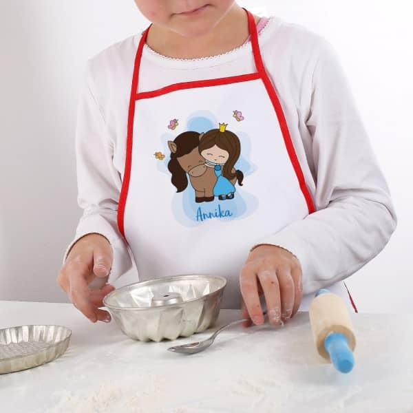 Individuellbabykind - Kinderschürze für Mädchen mit Prinzessin Motiv und Namen - Onlineshop Geschenke online.de
