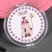 Taschenspiegel mit Beautycorn und Ihrem Wunschnamen