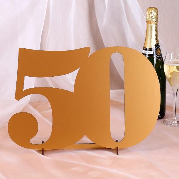 Zahl 50 in 3D zur Goldenen Hochzeit