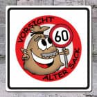 Alter Sack PVC-Schild zum 60. Geburtstag