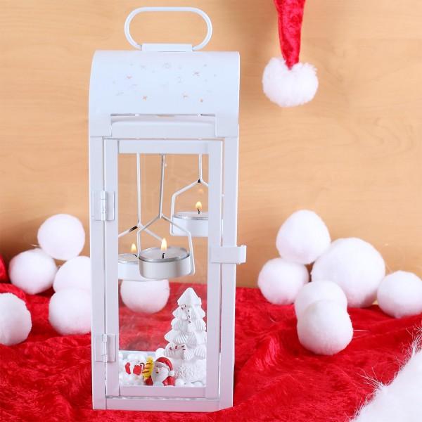 Laterne Teelichthalter und Deko Set zu Weihnachten