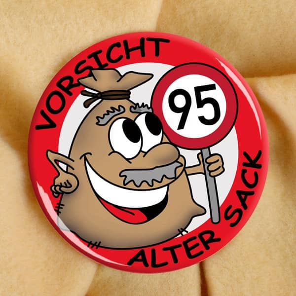 Alter Sack Button, 95 Jahre
