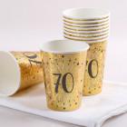 10 Goldene Pappbecher zum 70. Geburtstag