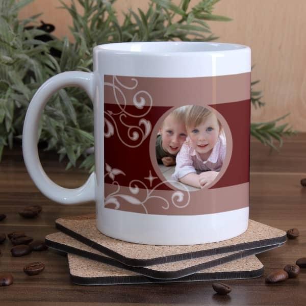Tasse mit Foto und Text