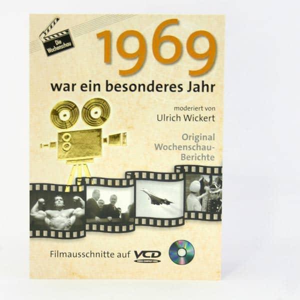 Geburtstagskart mit historischen Ausschnitten 1969