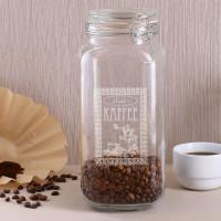 Graviertes Einkochglas als Aufbewahrungsdose für Kaffee