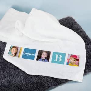 Foto Handtuch mit Name für Babys