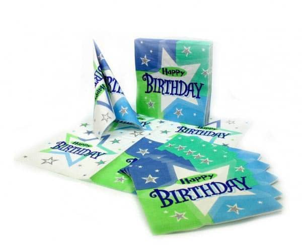 Servietten Happy Birthday Serie Birthday Shimmer