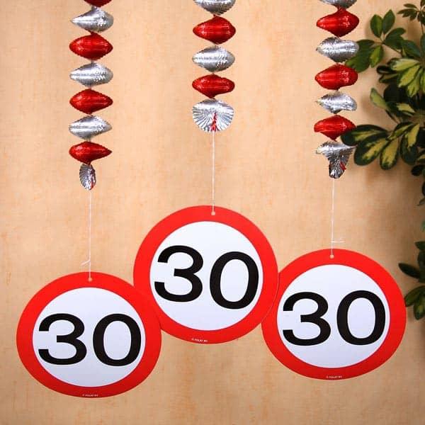 Verkehrsschild Dekoration zum 30.