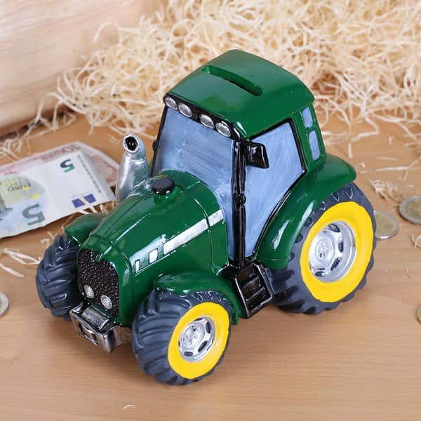 Spardose Traktor In Grun