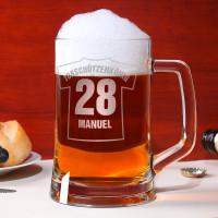 Personalisiertes Bierseidel mit Trikot