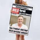 XXL Klappkarte - Zeitung zur Rente - mit Foto und Name