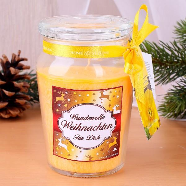 Duftkerze für wundervolle Weihnachten