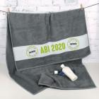 Abi 2020 - Badetuch mit Name - Reif für die Insel