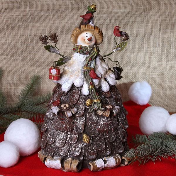Große Schneemannfigur mit Zipfelmütze