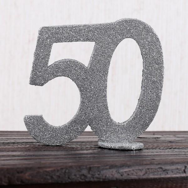 Silberne Dekozahl 50