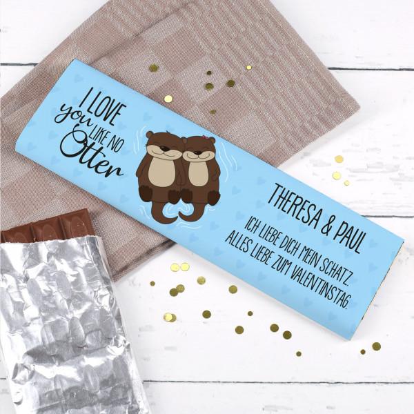 300g Schokolade mit Ihren Namen und Wunschtext