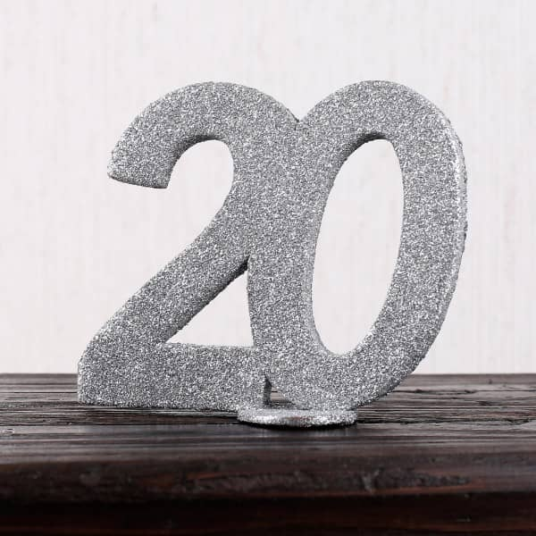 Silberne Dekozahl 20