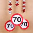 Spiral Dekoration Verkehrsschild 70