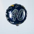 Folienballon zum 40. Geburtstag in dunkelblau