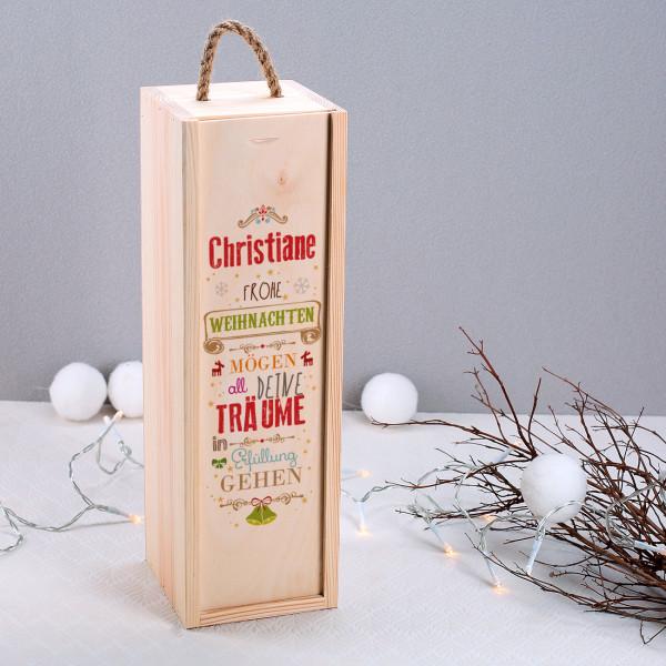geschenkverpackung zu weihnachten mit ihrem namen. Black Bedroom Furniture Sets. Home Design Ideas
