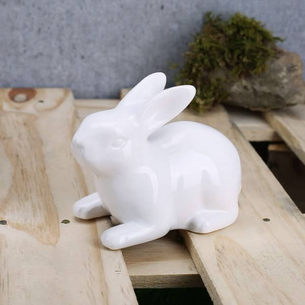 weißer Keramikhase
